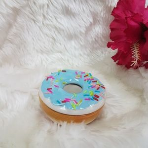 New Sprinkle Rainbow Donut Porcelain Trinket Jar